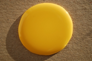 Yellow paint blob