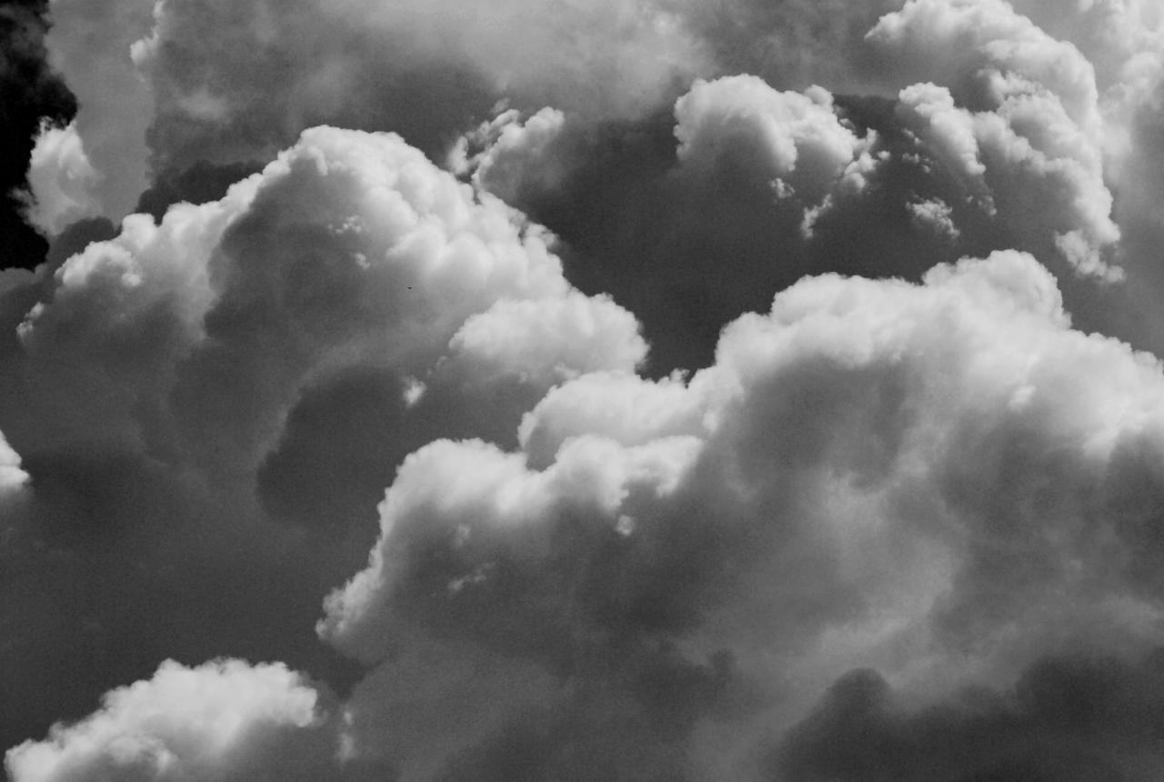 Black and white cloud tumblr