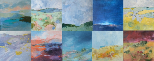 A series of ten paintings by Sandra Robinson