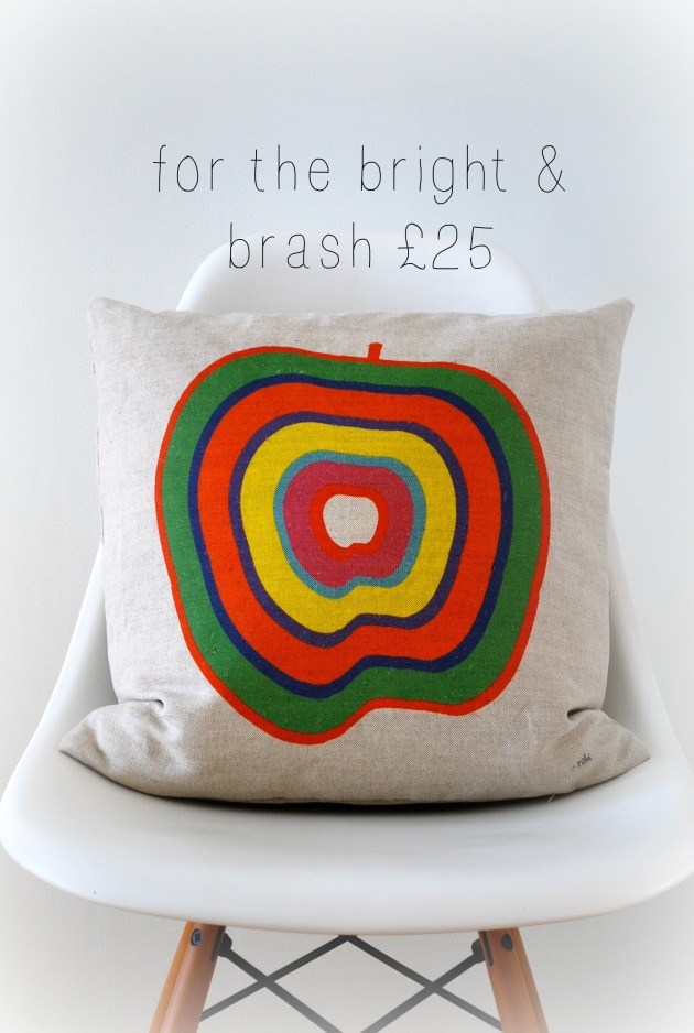funky apple cushion