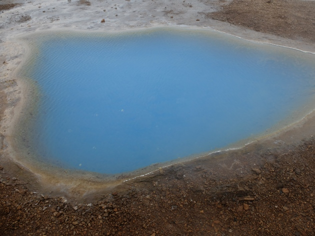 A beautiful blue hot pool