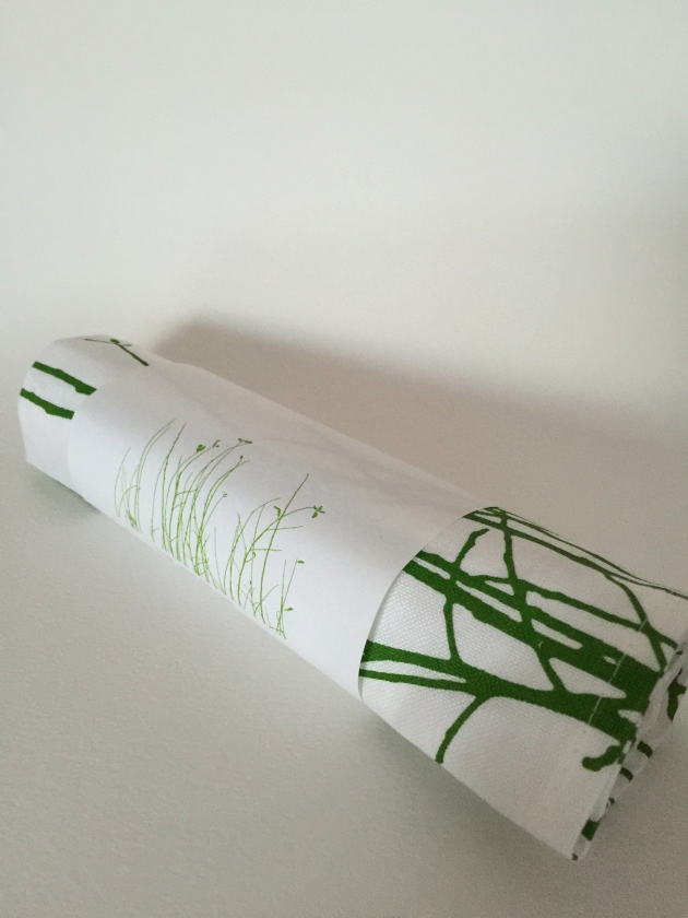 Twigs Linen Union Tea towel - fresh new shoots