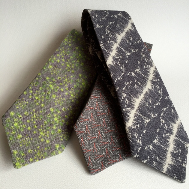 Linen ties, Made in Edinburgh.