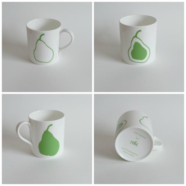 Pear Mug Green