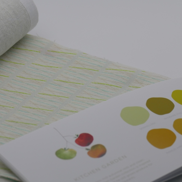 Paint by Conran with 'Lines' print on Fife Linen from Printed and Co