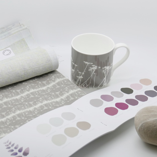 Paint by Conran with Botanical DNA print on linen from Printed and Co