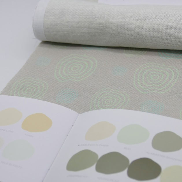 Paint by Conran with 'Falling Apples' linen from Printed and Co