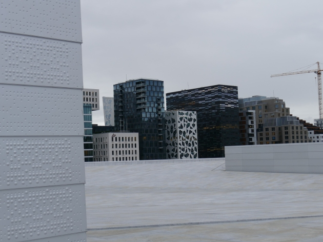 Looking to the Business Sector from the Roof of the Opera House, Oslo