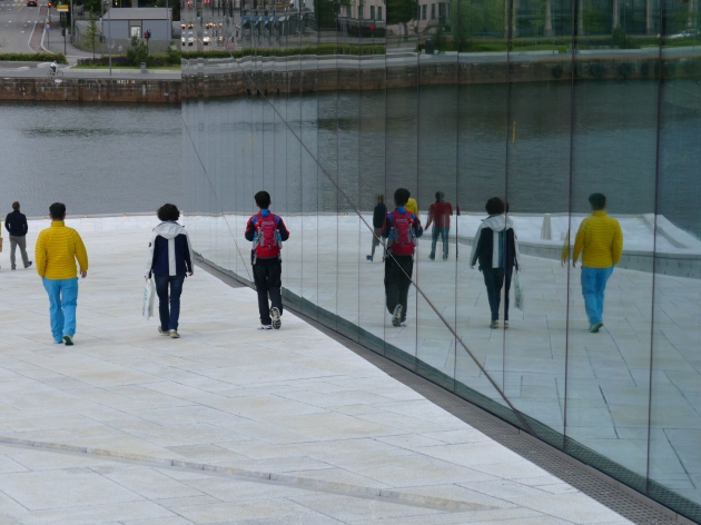 Walking on the Roof of The Opera and Ballet House, Oslo