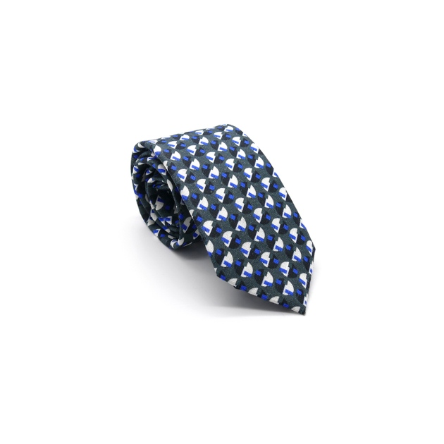 Blue Eclipse Linen Tie by Niki Fulton