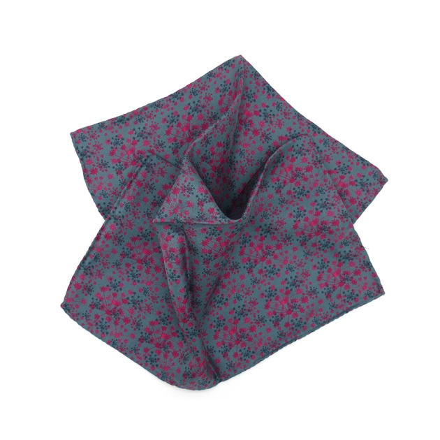 Pink Fennel Silk Pocket Square by Niki Fulton